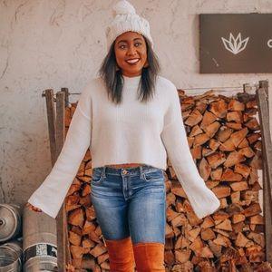 Cozy White H&M Sweater